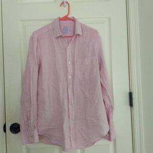 Lilac Linen Button Down Shirt